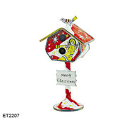 ET2207 Kelvin Chen Angel with Trumpet Birdhouse