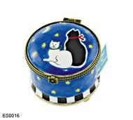 ES0016 Kelvin Chen Black Cat & White Cat Stamp Box