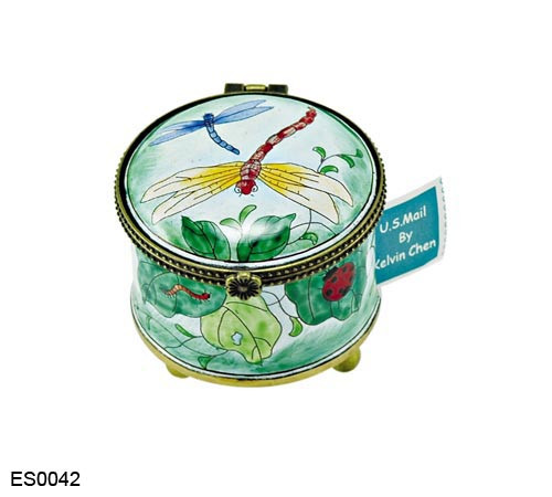 ES0042 Kelvin Chen Dragonfly Stamp Box