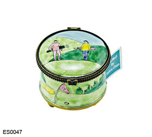 ES0047 Kelvin Chen Golfers  Walking Stamp Box