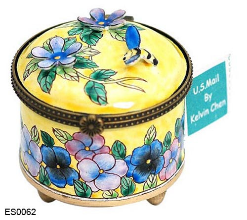 ES0062 Kelvin Chen Bee and Flowers Stamp Box