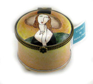 ES0072 Kelvin Chen Modigliani Lady With Hat Stamp Box