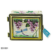 ES1001 Kelvin Chen Dragonfly and Grapes Stamp Box