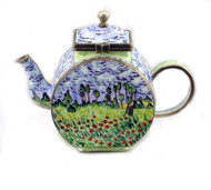 ENK862 Kelvin Chen Field of Flowers Enamel Hinged Teapot