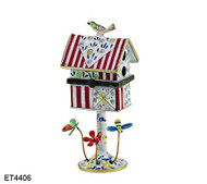 ET4406 Kelvin Chen Striped Roof Hinged Birdhouse
