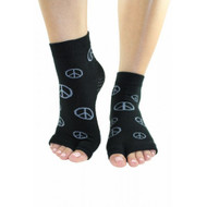 Peace Sign Split-toe yoga and pilates socks.