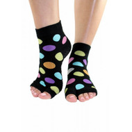 Happy Split-toe yoga and pilates socks.