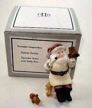 Toymaker Santa with Teddy Bear PHB