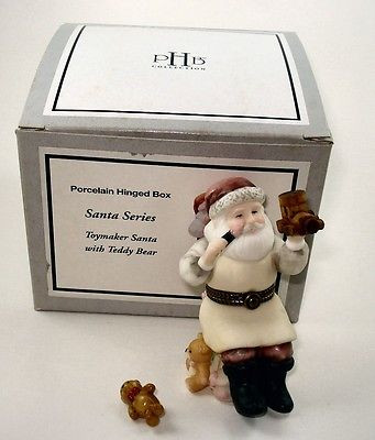 Toymaker Santa with Teddy Bear PHB