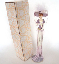 Victorian Tassel Doll in Lavender and Off-White