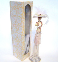 Victorian Tassel Doll in Peach with Victorian Hat