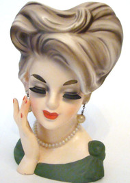 Vintage authentic Lady Head Vase Parma A-174