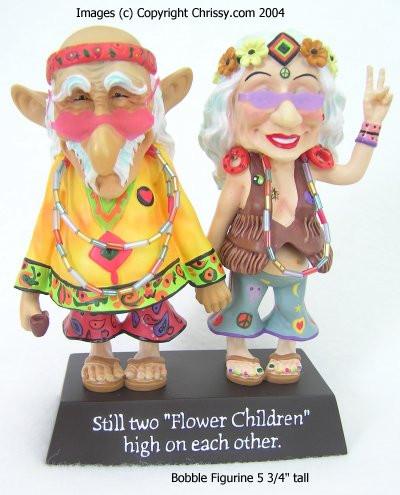 """Westland Still two """"Flower Children"""" high on each other Biddy & Coot"""