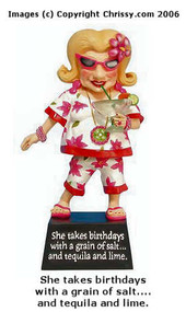 Westland Tequila Birthday Bobble Biddy Figurine Biddy