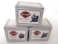 Midwest of Cannon Falls Set of 3 Harley-Davidson Motorcycle Bikes Hinged Boxes PHB
