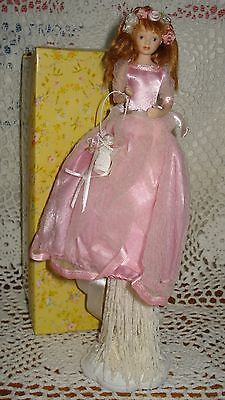 Flower Girl in Pink Tassel Doll
