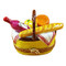 Yellow Picnic Basket W/Handle Rochard Limoges Box