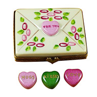 Envelope - For You W/3 Hearts Rochard Limoges Box