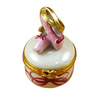 Ballet Shoes On Round Rochard Limoges Box