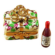 Gift Box Gold Ribbon Grapevine Rochard Limoges Box