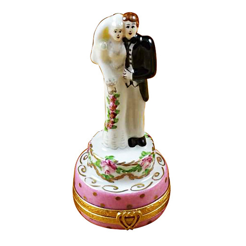 Wedding Couple On Cake Rochard Limoges Box