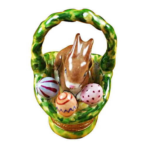 Rabbit Basket/Easter Eggs Rochard Limoges Box