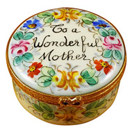 To A Wonderful Mother - Studio Collection Rochard Limoges Box