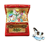 Christmas Toy Chest W/ Rocking Horse Rochard Limoges Box
