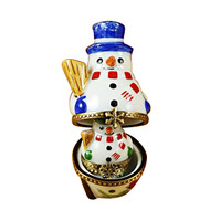 Nesting Snowman Set Rochard Limoges Box