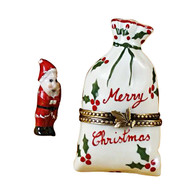 Christmas Bag With Santa Rochard Limoges Box