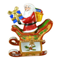 Santa In Sleigh Rochard Limoges Box