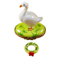 Goose With Christmas Wreath Rochard Limoges Box