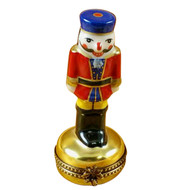 Nutcracker On Gold Base Rochard Limoges Box