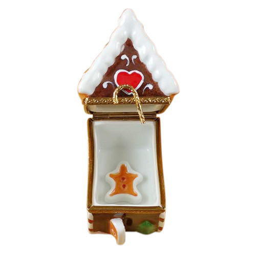 Gingerbread House W/Gingerman Rochard Limoges Box
