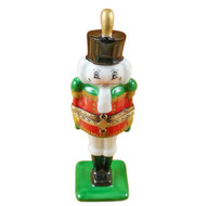 Nutcracker On Flat Green Base Rochard Limoges Box