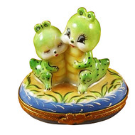 Two Cute Worms Rochard Limoges Box
