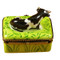 Cow W/Milk Bottle Rochard Limoges Box