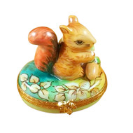 Squirrel In Field With Acorn Rochard Limoges Box