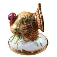 Large Turkey Rochard Limoges Box