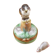 Falcon With Mouse Rochard Limoges Box