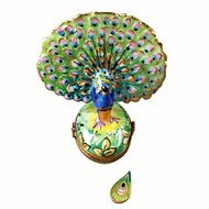 Peacock With Removable Feather Rochard Limoges Box