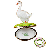 Goose With Spring Wreath Limoges Box