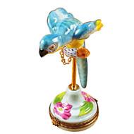 Parrot Blue/Hibiscus Rochard Limoges Box