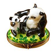 Panda & Cub Rochard Limoges Box