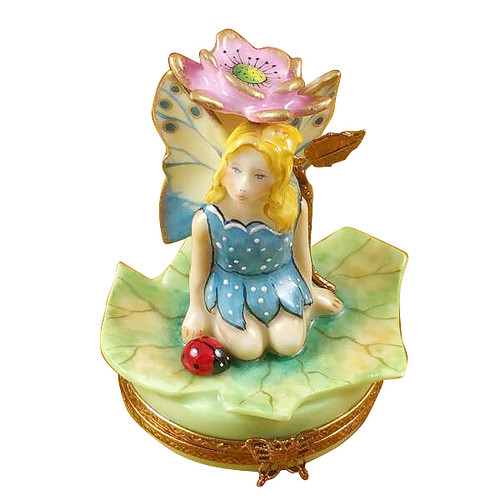 Flower Fairy Pink Rochard Limoges Box