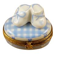 Oval - It'S A Boy W/Shoes Rochard Limoges Box
