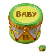 Drum With Pacifier Rochard Limoges Box