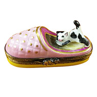 Cat In Slipper Rochard Limoges Box