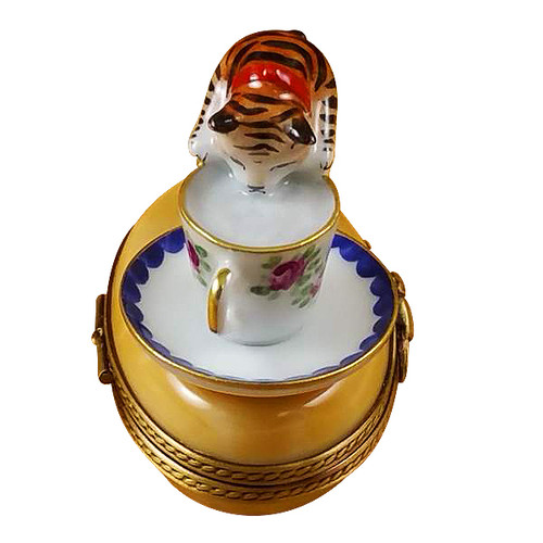 Cat W/Milk Rochard Limoges Box