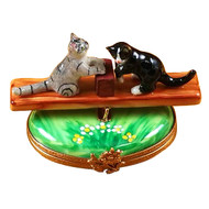 See Saw Cats Rochard Limoges Box